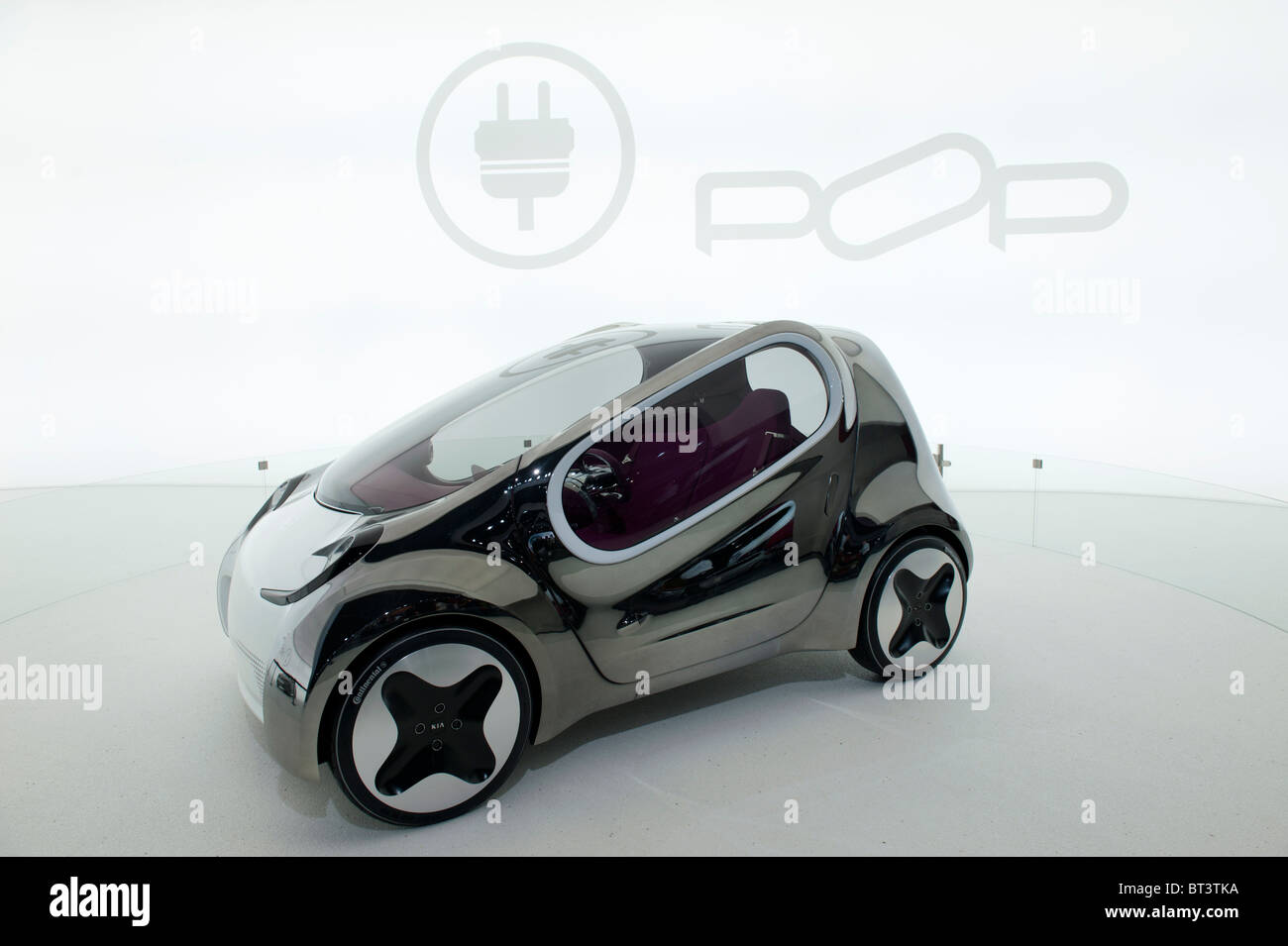 Kia Pop-Elektro-Konzeptfahrzeug auf der Paris Motor Show 2010 Stockbild