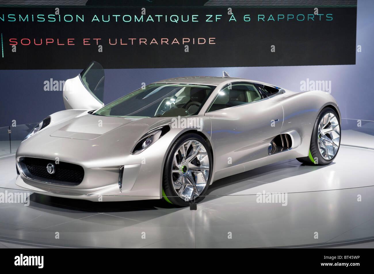 Neue Jaguar-C-75 auf der Paris Motor Show 2010 Stockbild