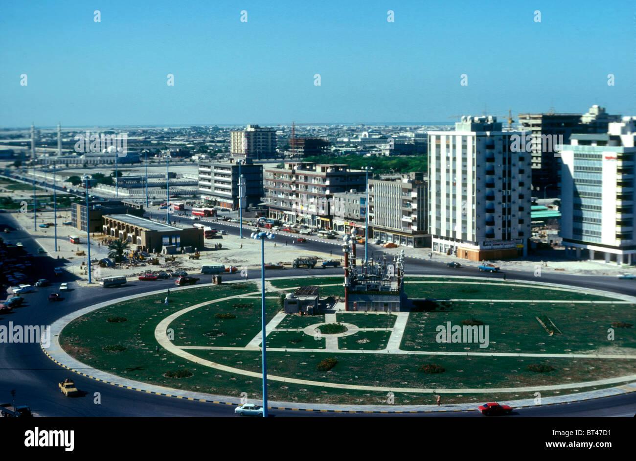 Zentrum von Abu Dhabi im Jahr 1976, Vereinigte Arabische Emirate Stockbild