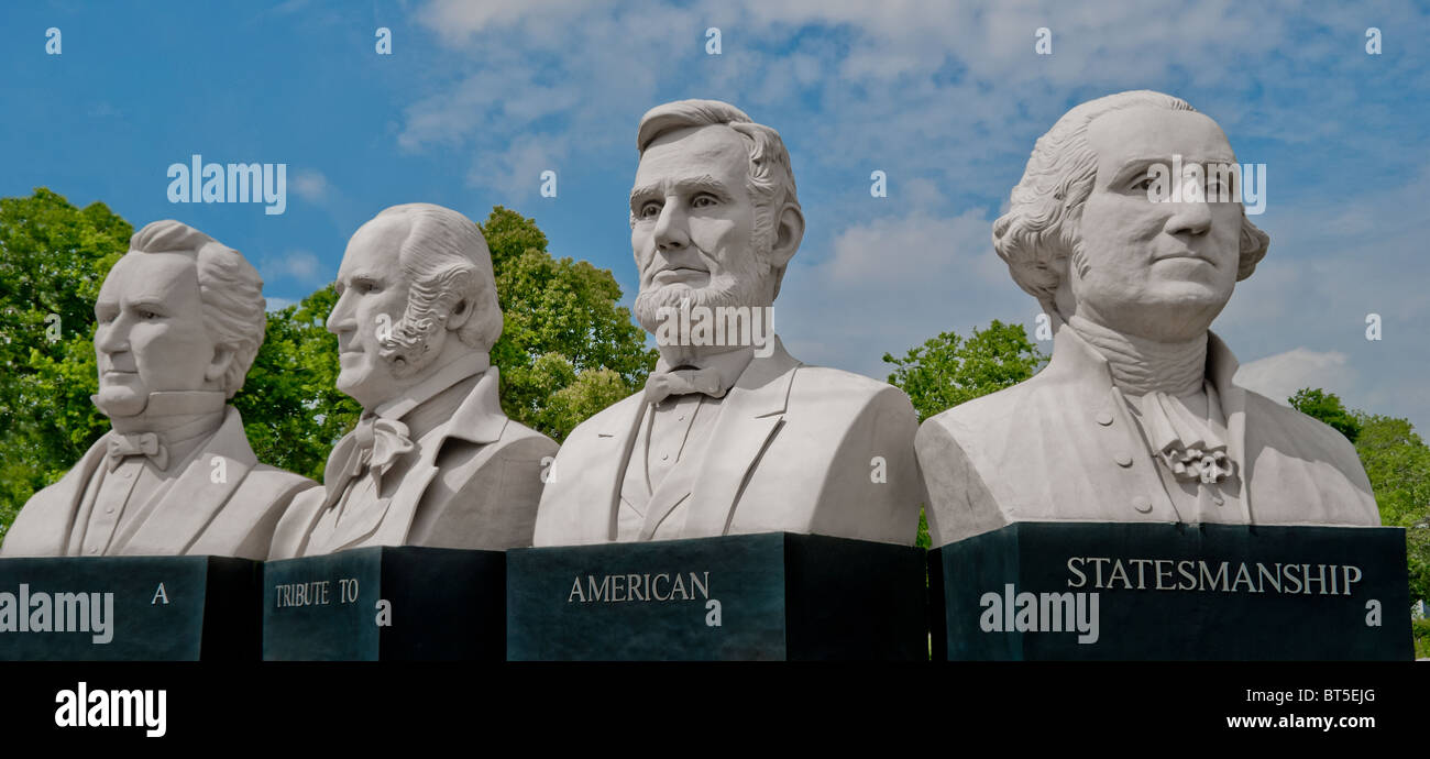 """Mount Rush Hour"" des Bildhauers David Adickes in Houston, Texas, USA Stockbild"