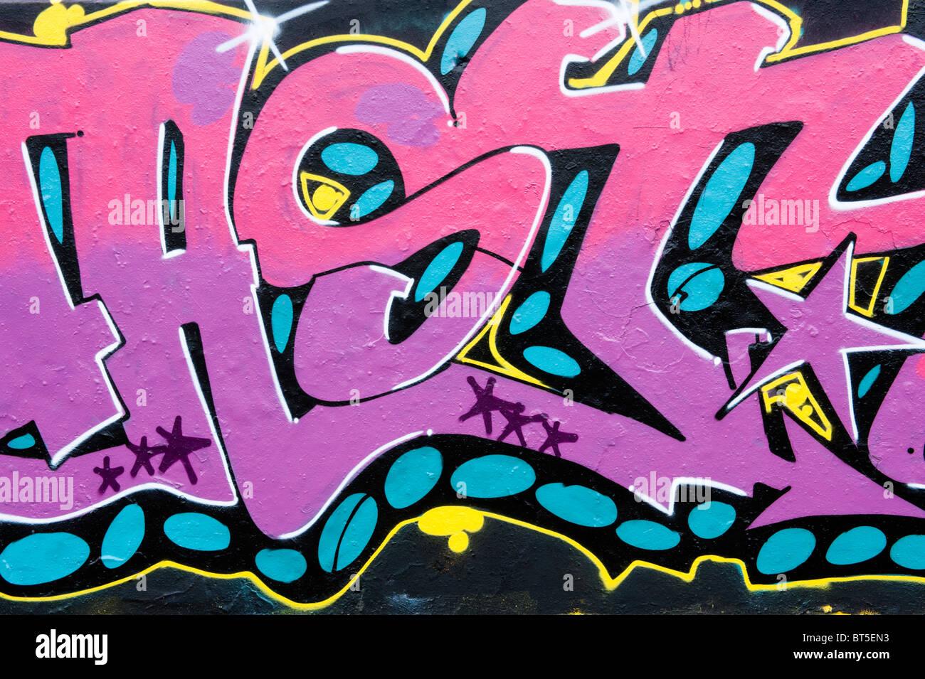 rosa graffiti schriftzug stockfoto bild 32083439 alamy. Black Bedroom Furniture Sets. Home Design Ideas