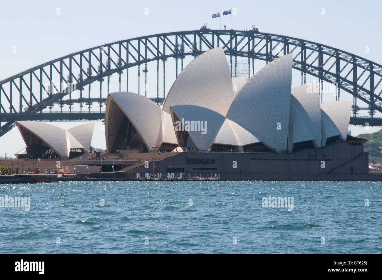 Sydney Opera House Multi-Veranstaltungsort Performing Arts Center australische Stadt Sydney dänische Architekt Jørn Utzon, Pritzker-Preis, archit Stockfoto
