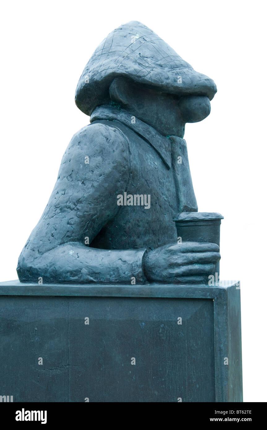 Statue-liebenswerten Comic-Figur Andy Capp Jean Smythe, Hartlepool Künstler Reg Smythe, 5ft hohe Bronzeskulptur Stockbild