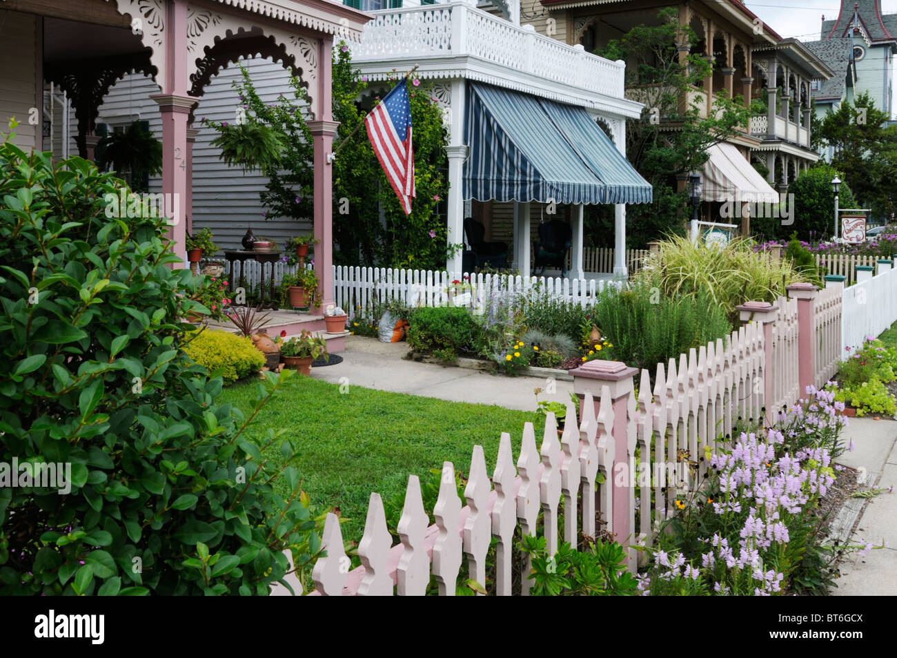 Cape May, New Jersey viktorianischen Häusern Stockbild