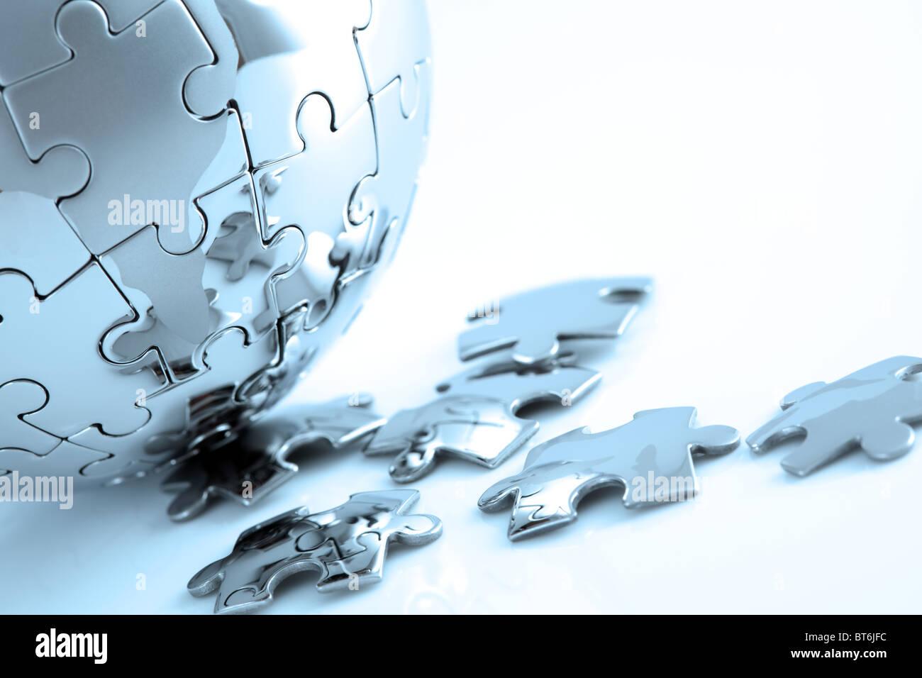 Globale Strategie und Lösung Stockbild
