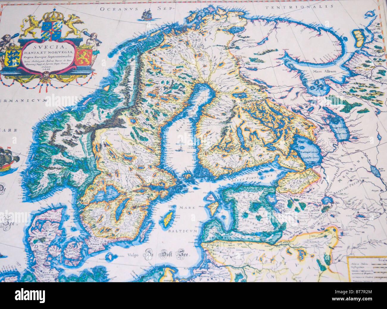 Karte Skandinavien.Karte Von Skandinavien Stockfotos Karte Von Skandinavien Bilder