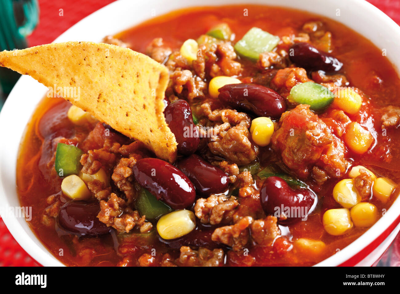 Chili Con Carne Hackfleisch Kidney Bohnen Mais Paprika Chili