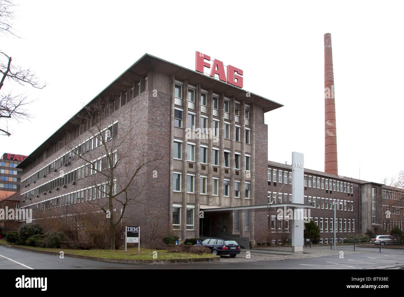 Rollen-Element Lagerhersteller, FAG Schaeffler KG, Schweinfurt, Bayern, Deutschland, Europa Stockbild