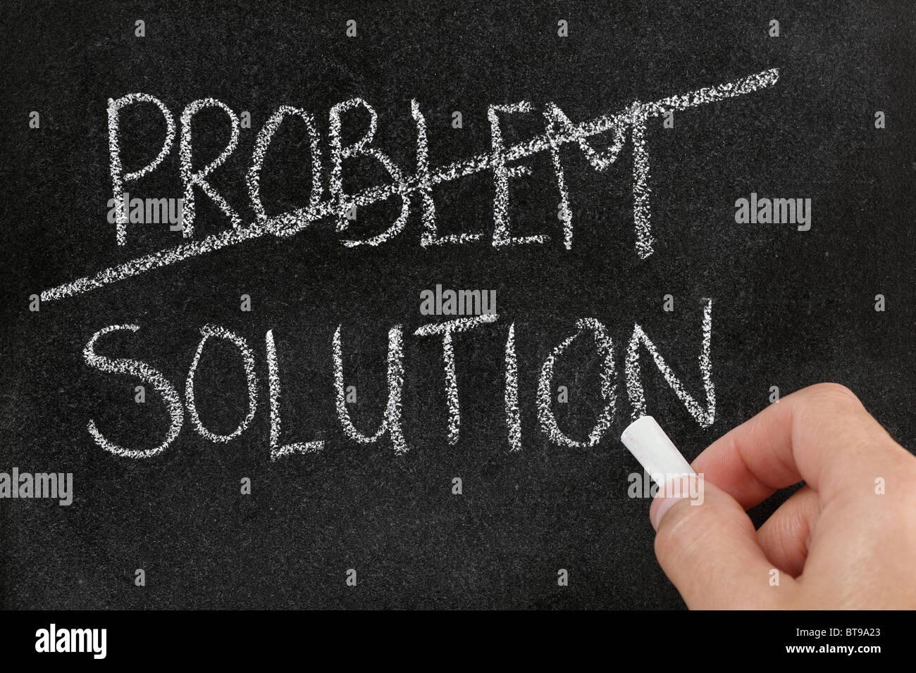 Die Lösung für ein problem Stockbild