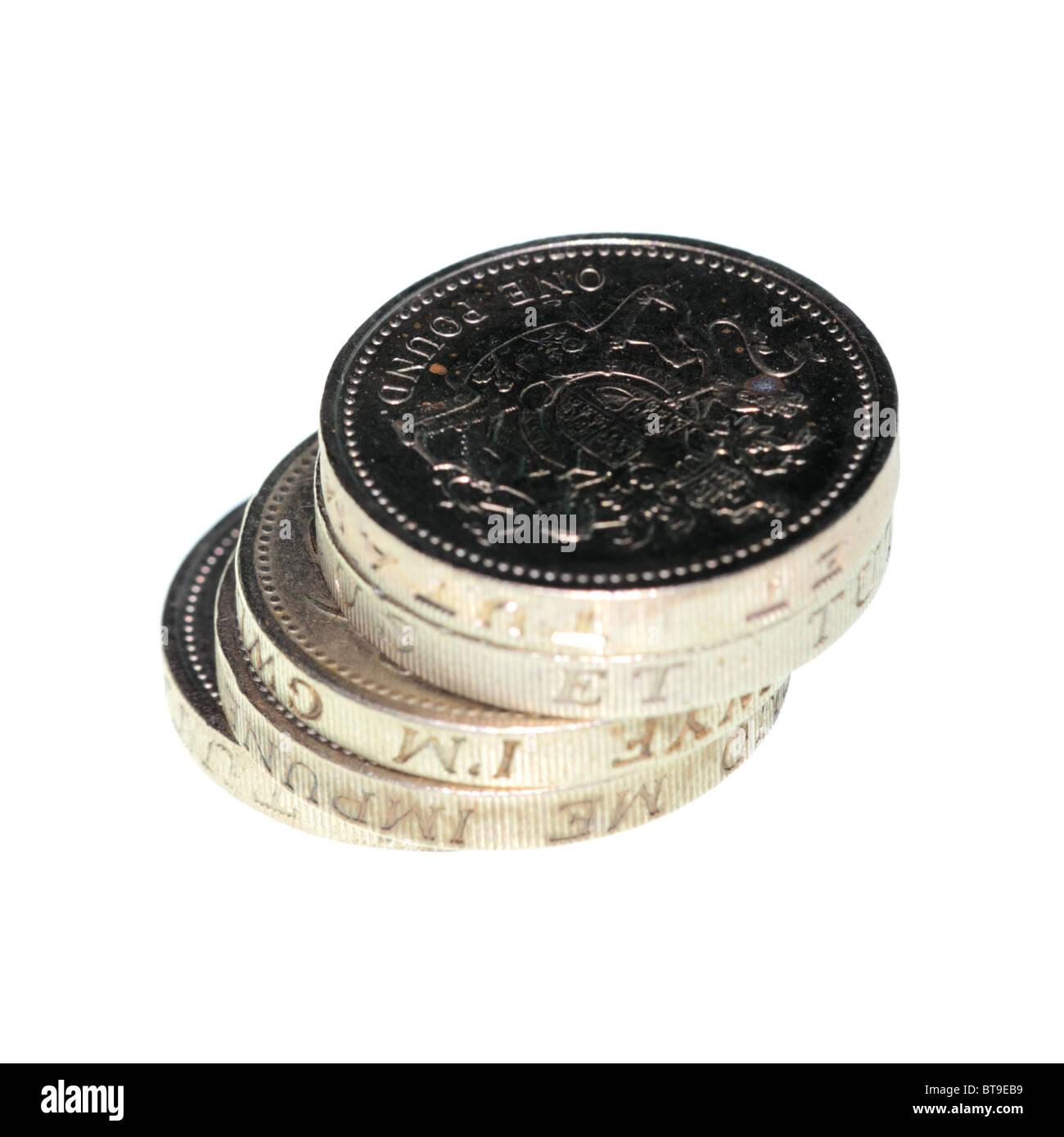 Pfund-Münzen Stockbild