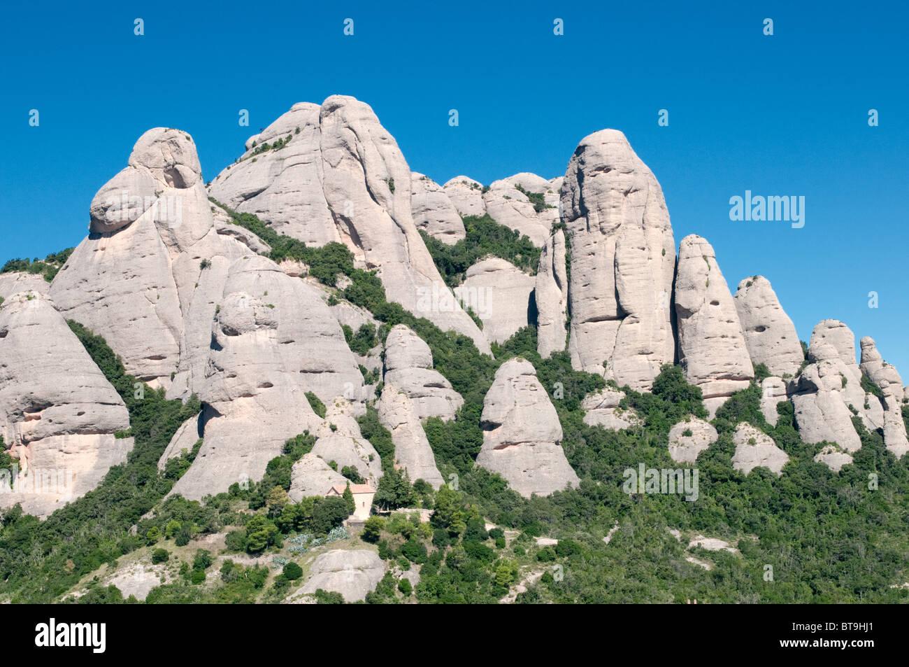 Montserrat in Katalonien, Spanien Stockbild