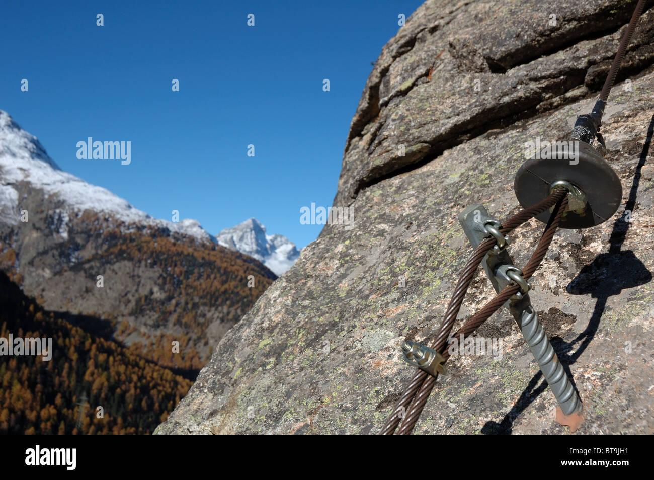 Klettersteig La Resgia : Bestandteil der festen schutz auf den klettersteig la resgia
