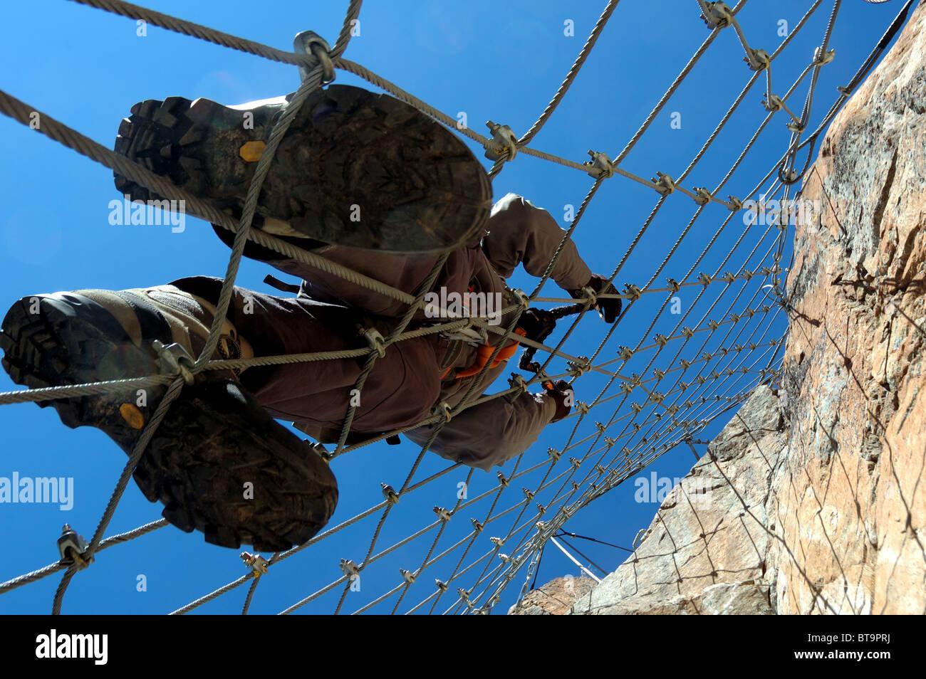 Klettersteig Pontresina : Bergsteiger auf la resgia ein klettersteig in pontresina engadin