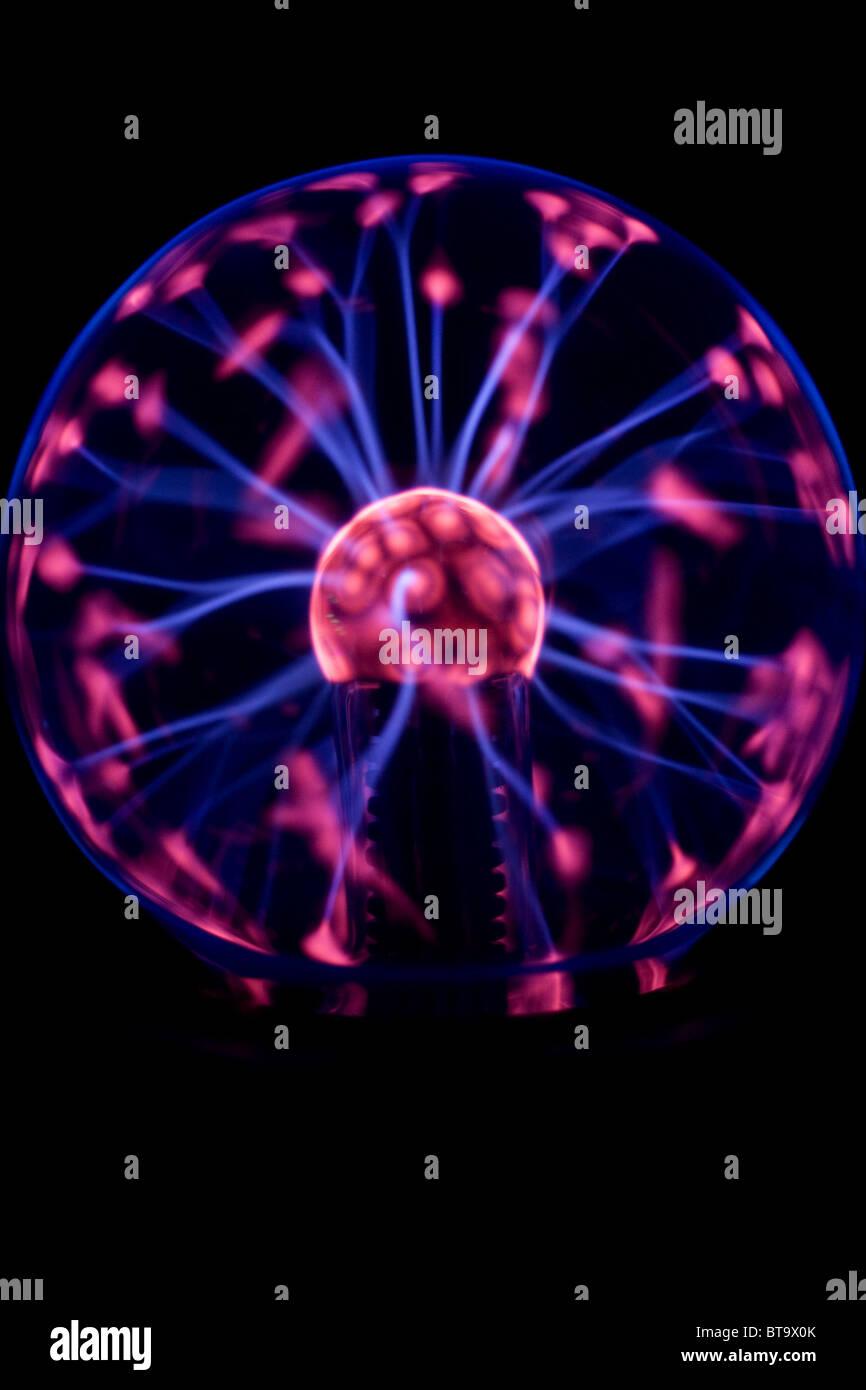 Plasma-Lampe - Science Demonstration - Zustände der Materie Stockbild