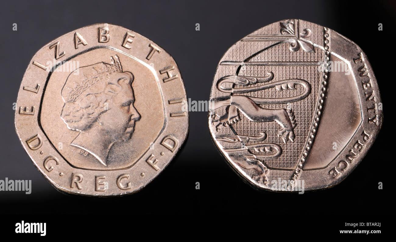 Seltene Undatiert 20 Pence 20 P Münze Erschienen Im Jahr 2008 Durch
