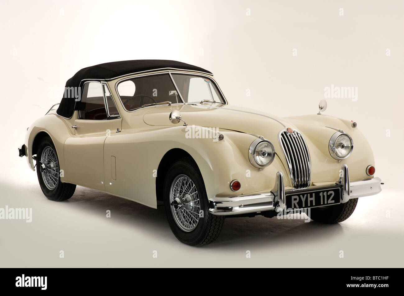 Jaguar XK140 1955 Stockbild