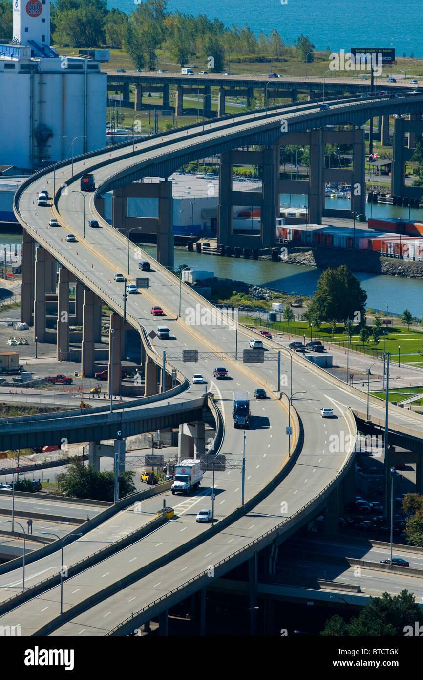 Der Skyway, Buffalo, New York Stockbild