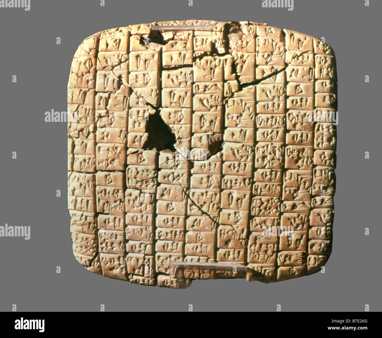 5358. Cuniform Brief von Enna Dagan ein König von Mari, eine Stadt im  nordwestlichen Mesopotamien.