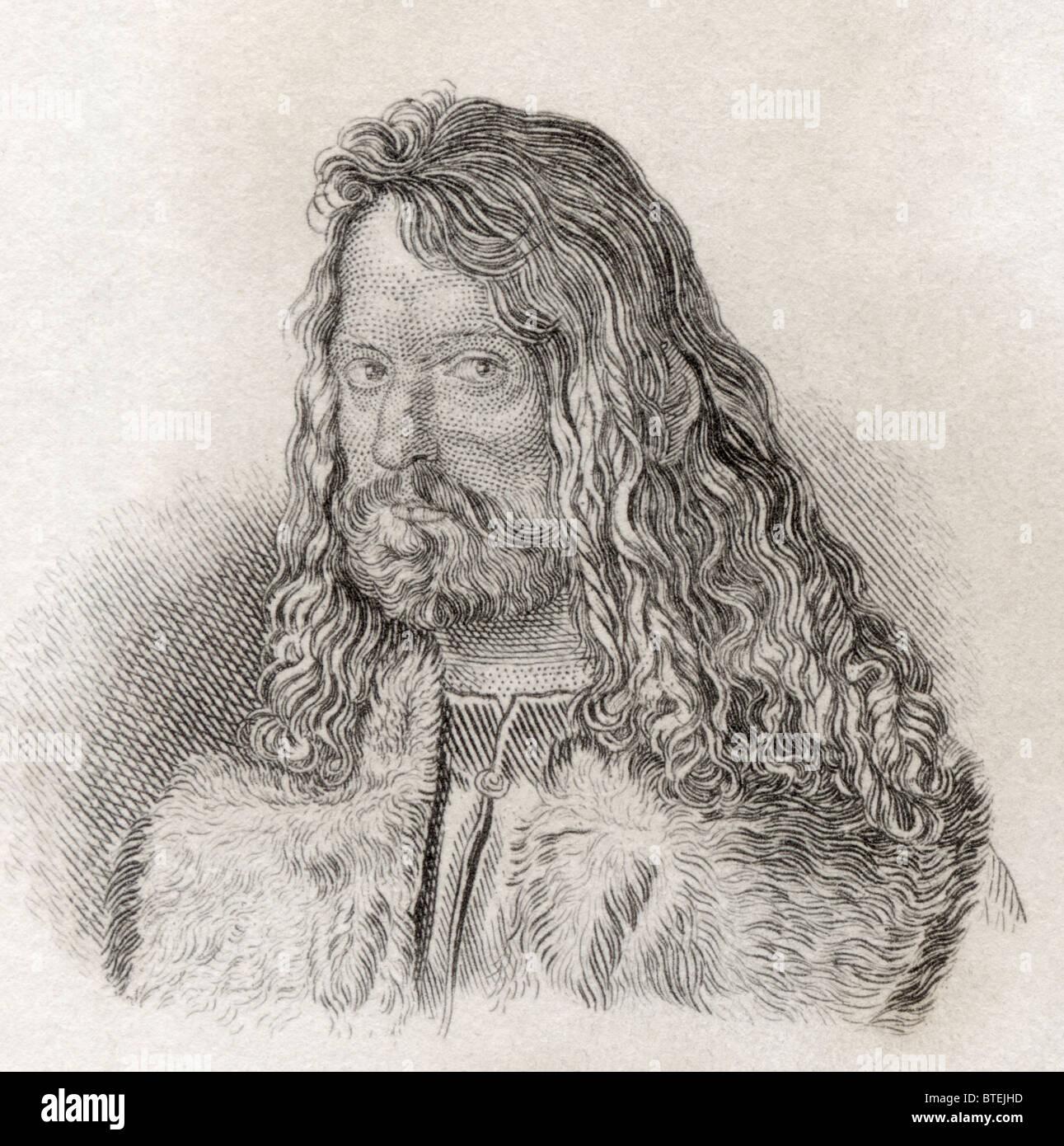 Albrecht Dürer, 1471-1528. Deutscher Maler, Grafiker und Theoretiker. Stockbild