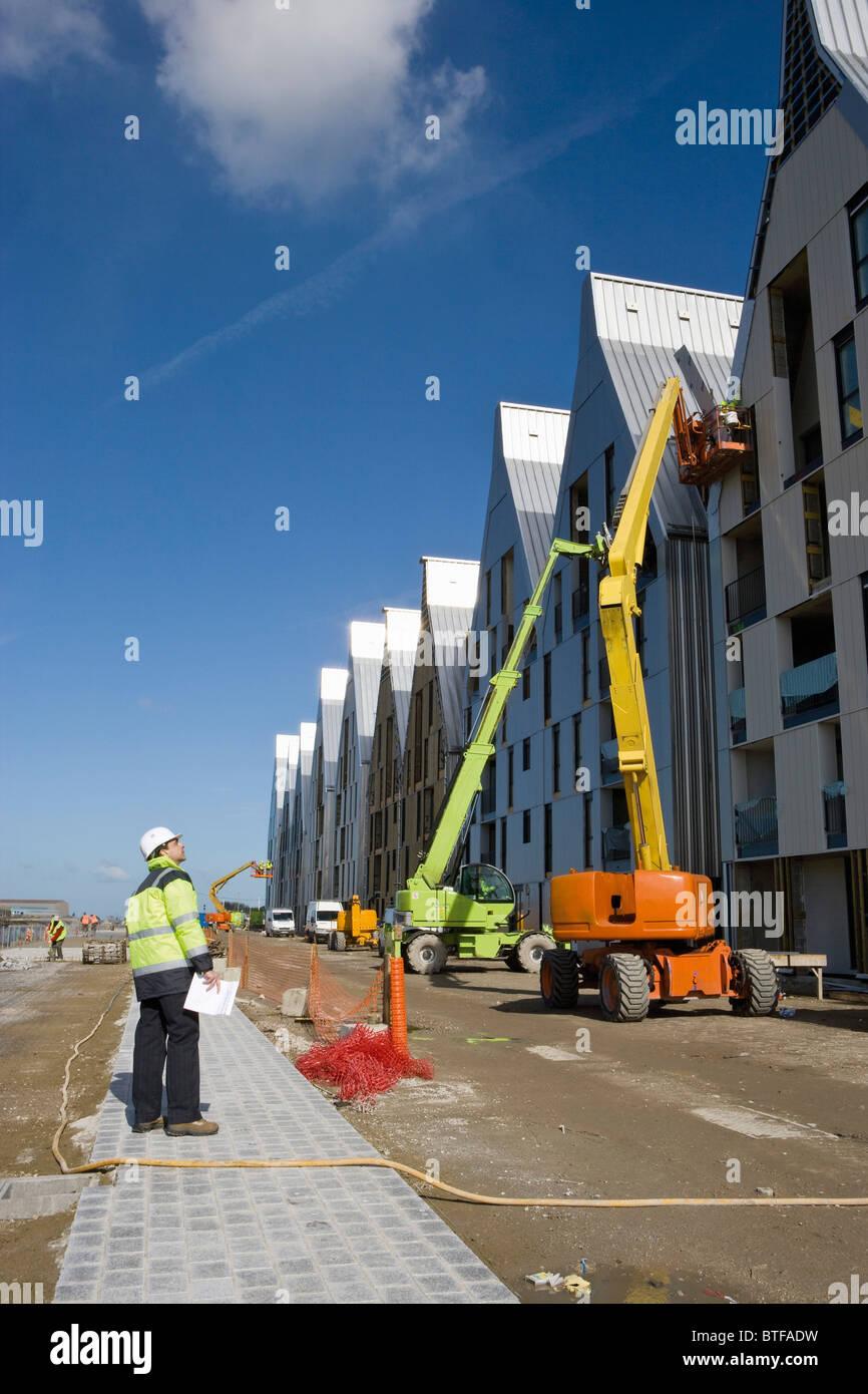 Vorgesetzten Beurteilung der Bau Baustelle Stockbild