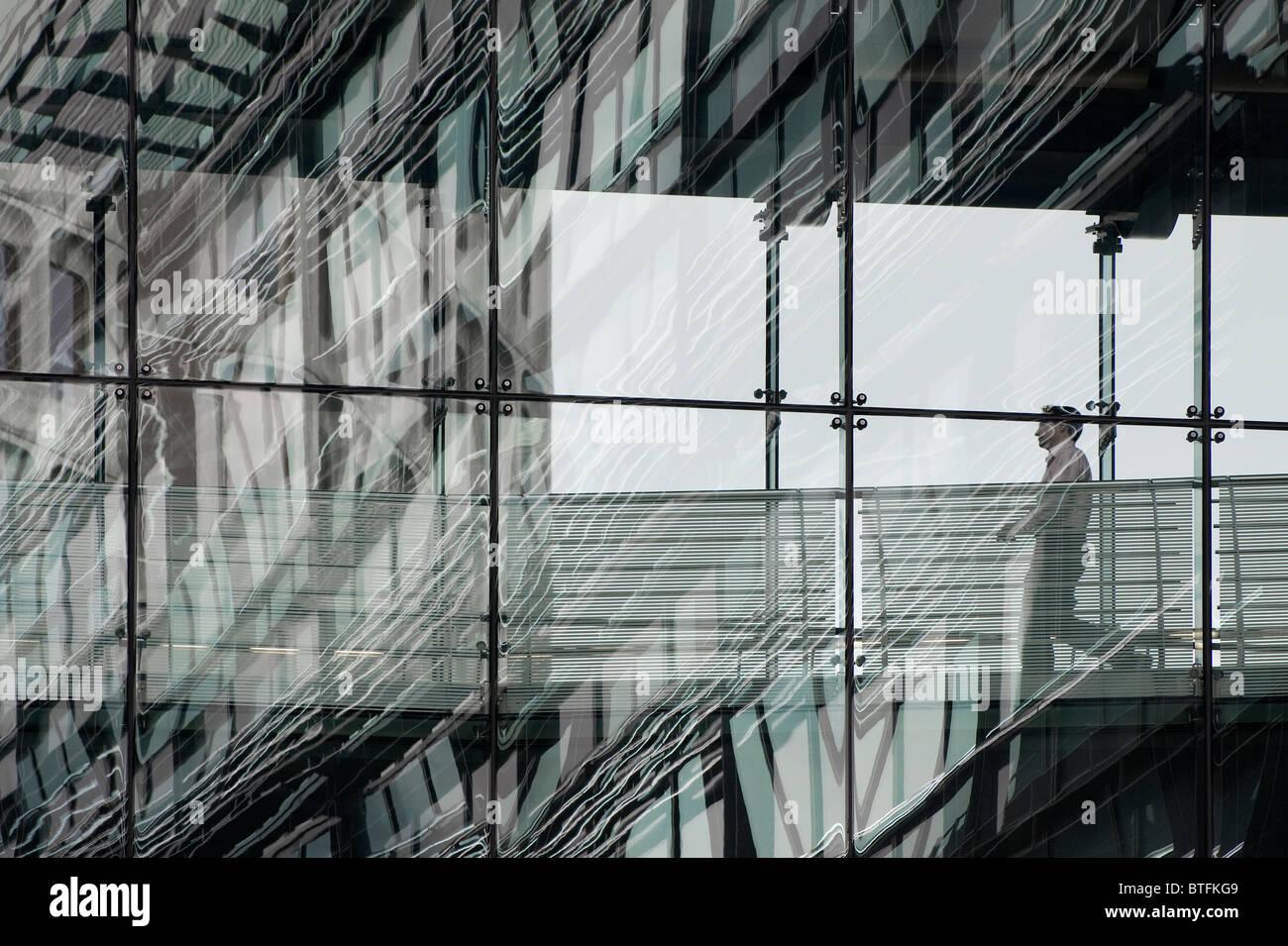 moderne zeitgenössische gläserne Bürogebäude, London, england Stockbild