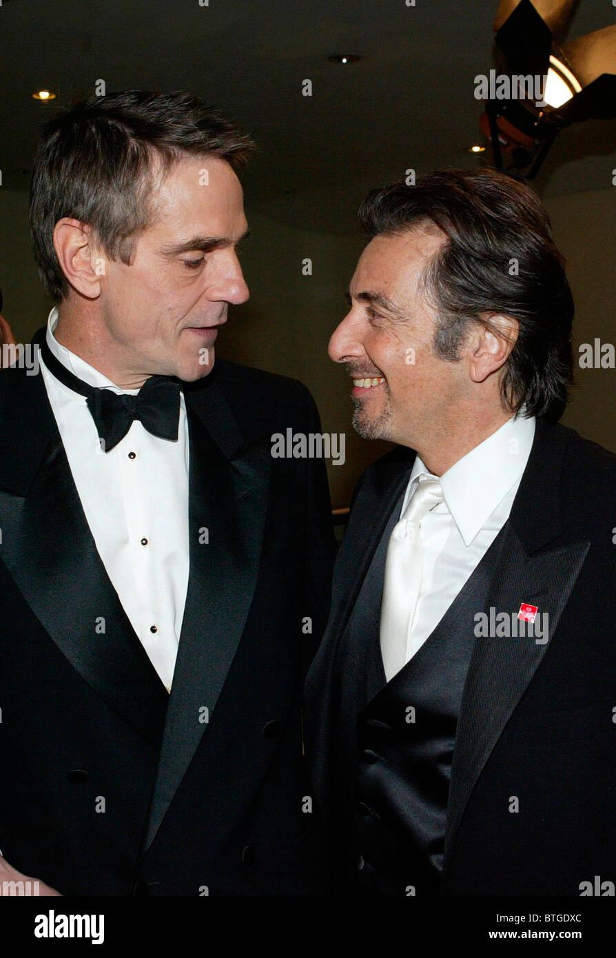 """Jeremy Irons und Al Pacino bei europäischen Charity-Premiere von Shakespeares """"der Kaufmann von Venedig"""" Stockbild"""