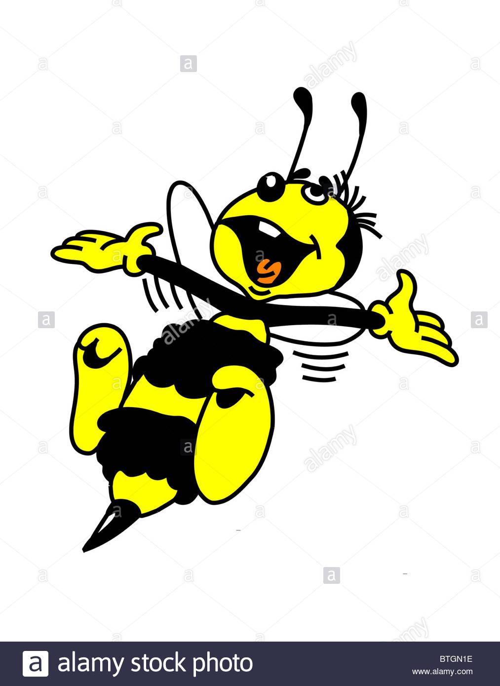 Vector Bee Cartoon Stockfotos & Vector Bee Cartoon Bilder - Alamy