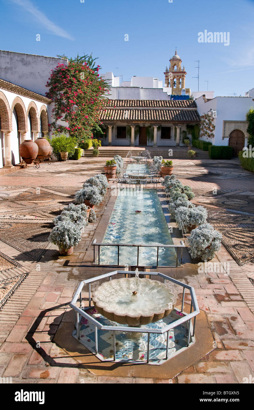 Spanien Cordoba Terrasse oder Hof des Palastes Palacio Marques de Viana Stockbild