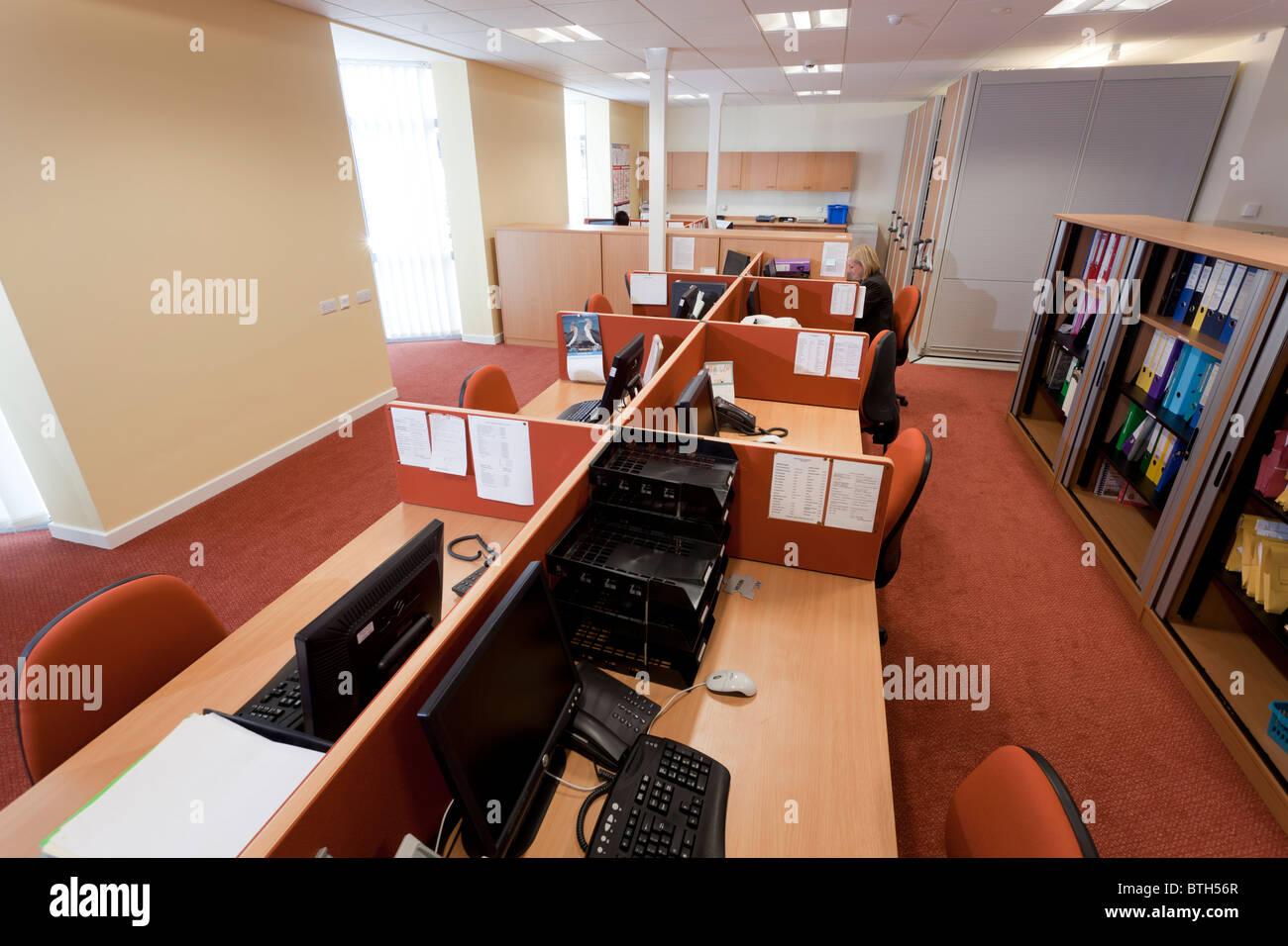 Allgemeine Büro in Gosport Medical Centre Stockbild