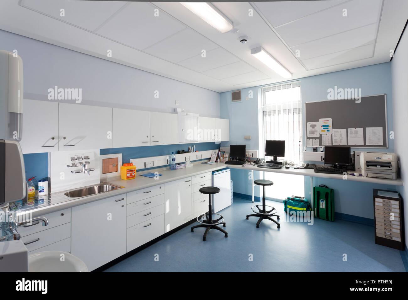 Labor im Gosport Medical Centre Stockbild