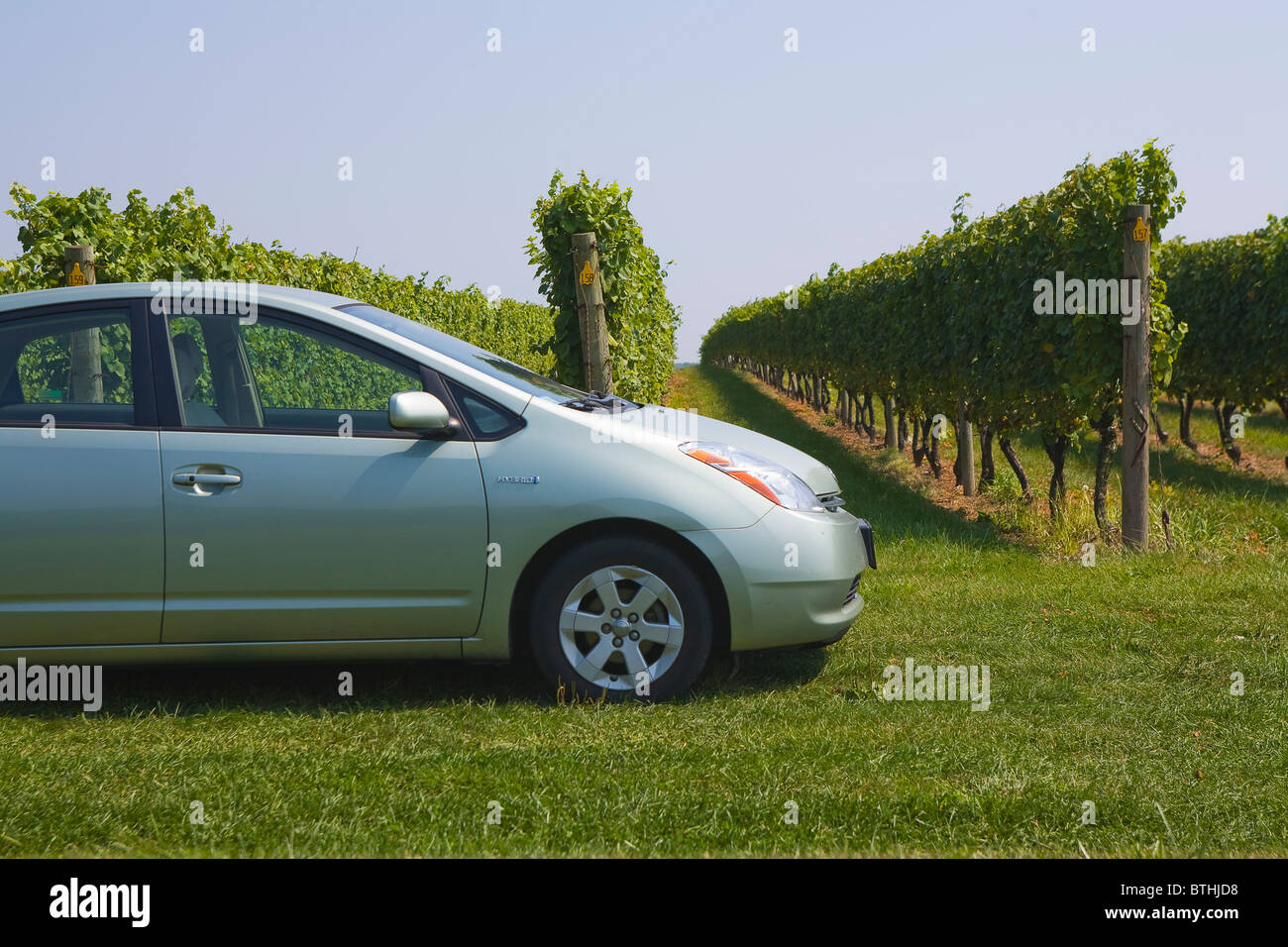 Toyota Prius Hybrid-Auto Stockbild
