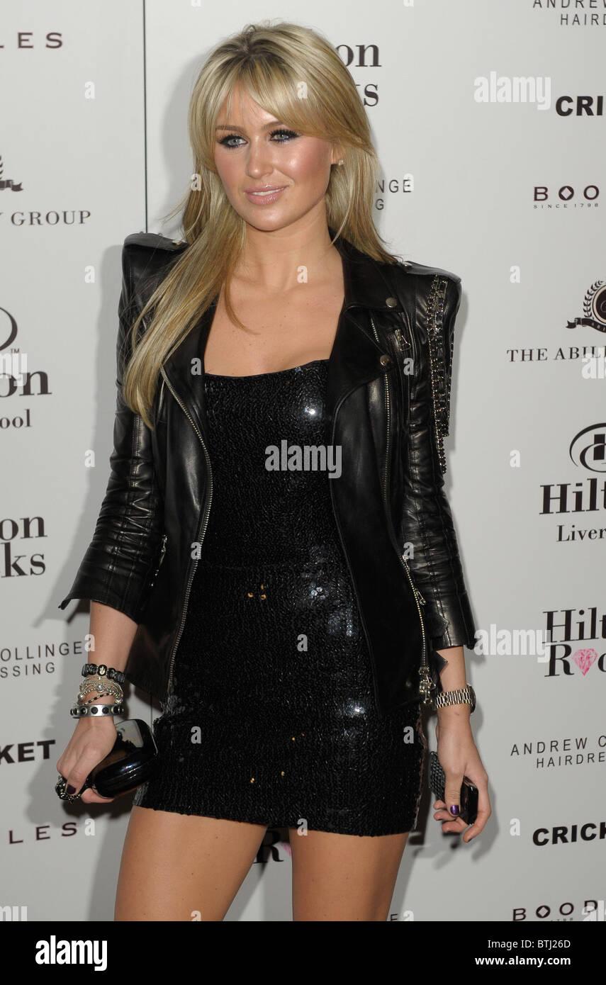 28.1.1010.Celebrities bei der Hilton Hotel offizielle Eröffnung in Liverpool. Fotos von Alan Edwards Stockbild