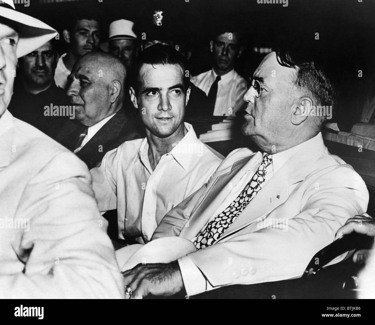 Gouverneur Frank Merriam, Howard Hughes und Bürgermeister Frank L ...