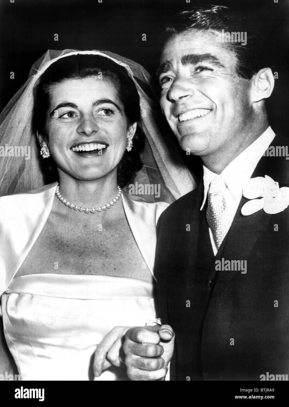 Patricia Kennedy Lawford Und Peter Lawford Mann An Der Rezeption