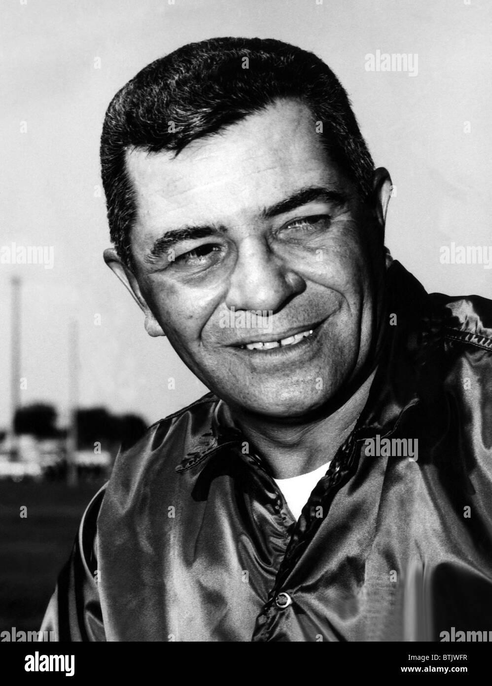 Vince Lombardi, (1913-1970), General Manager von den Green Bay Packers und einer der erfolgreichsten Cheftrainer Stockfoto