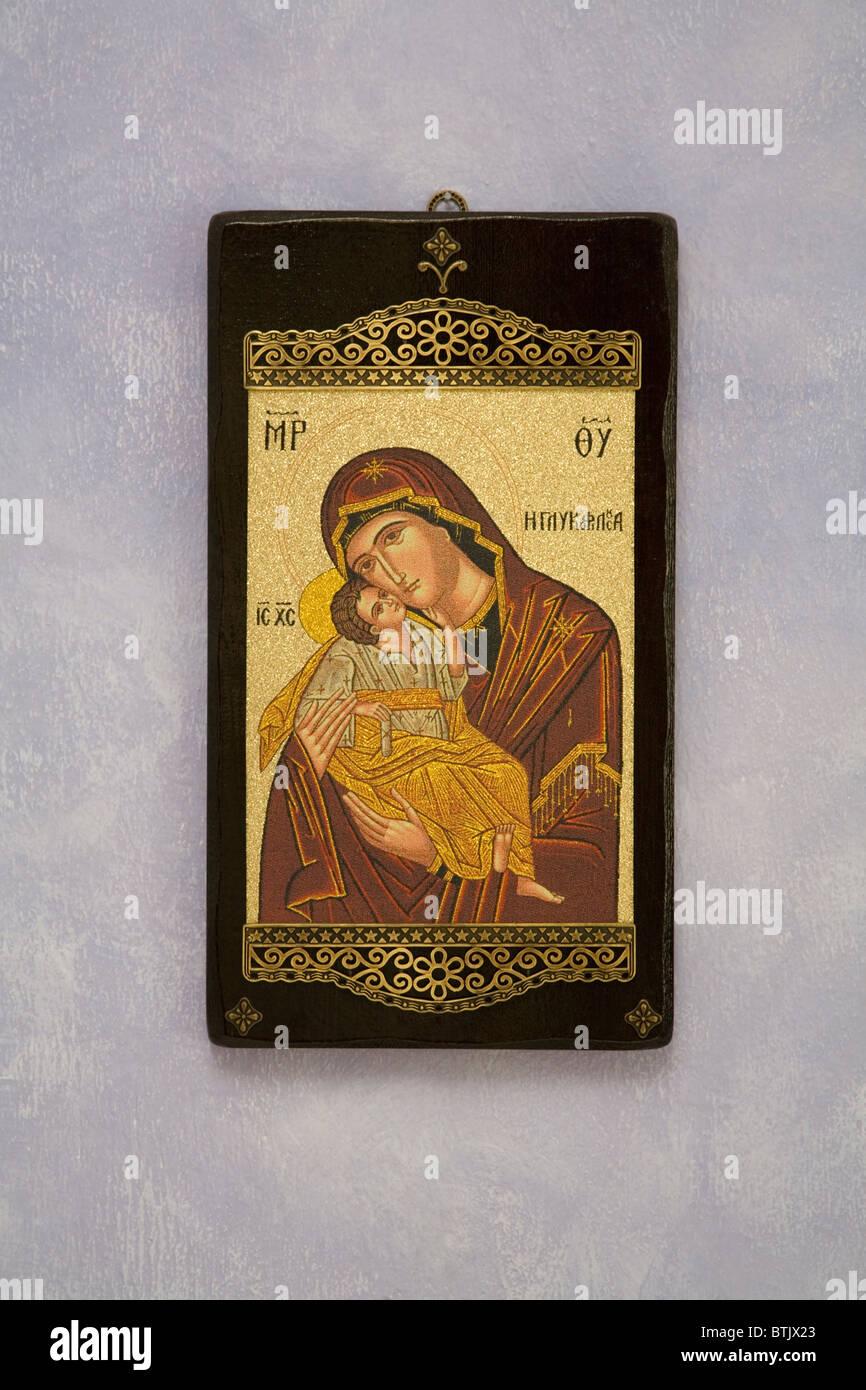 Madonna Und Kind Jesus Christus Dekoration Haus Wand Griechenland  Holzrahmen Hing Nach Hause Schlafzimmer