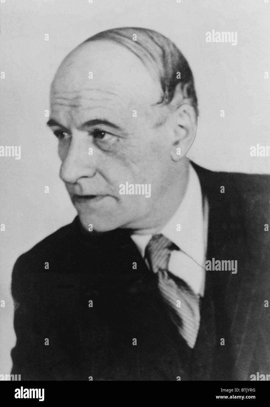 José Ortega y Gasset (1883-1955), spanischer Philosoph und Humanist. 1949. Stockbild
