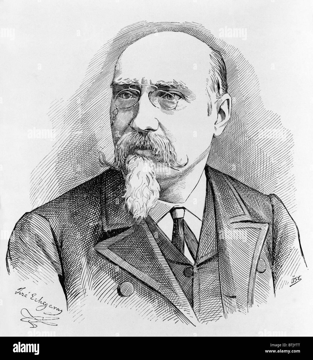 Spanischer Dramatiker José Echegaray (1832-1916) gewann den 1904 Nobelpreis für Literatur. Stockbild