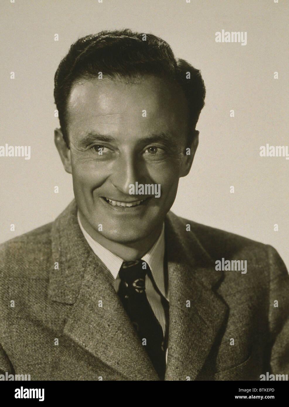 Fred Zinnemann (1907-1997), Regisseur und Produzent hatte eine sechs Jahrzehnt Hollywood-Karriere und gewann vier Stockbild