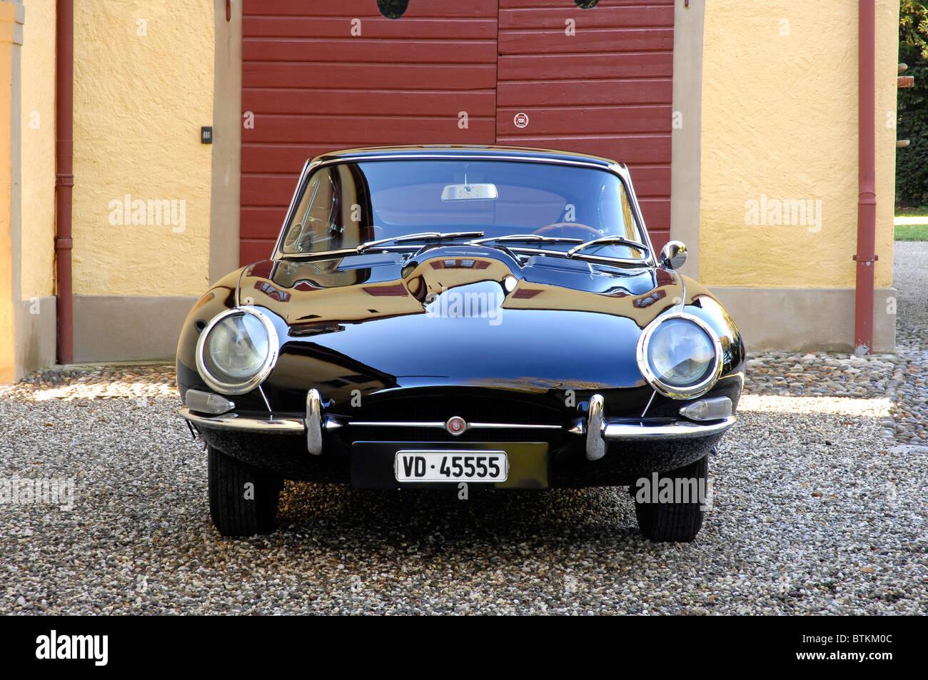 Jaguar E Typ 4,2 1964 Stockbild