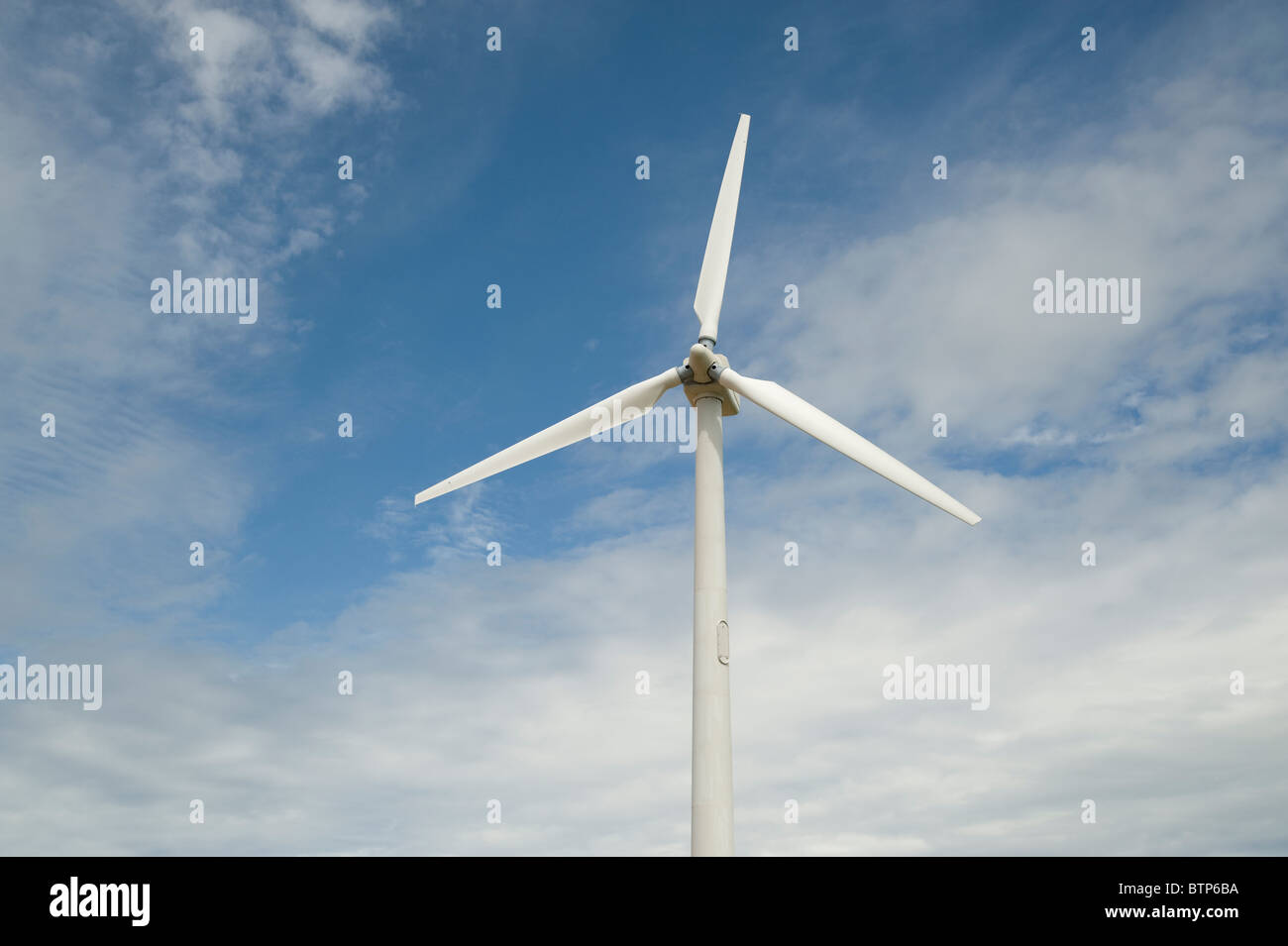 Windturbine, Cornwall, UK. Stockbild