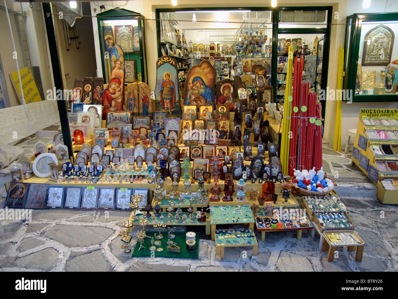 orthodox icons in shop stockfotos orthodox icons in shop bilder alamy. Black Bedroom Furniture Sets. Home Design Ideas