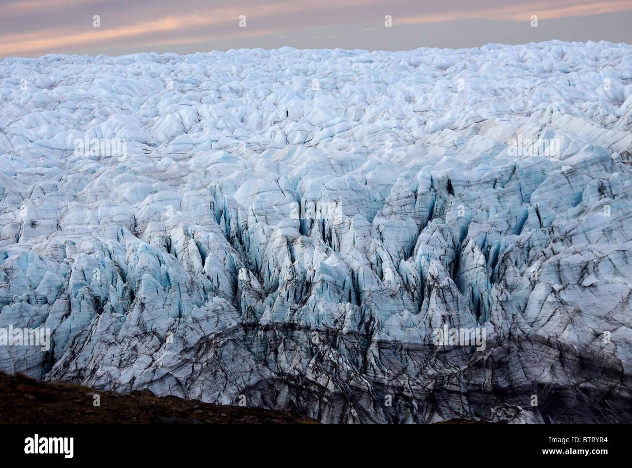 Eisdecke auf Grönland Stockbild