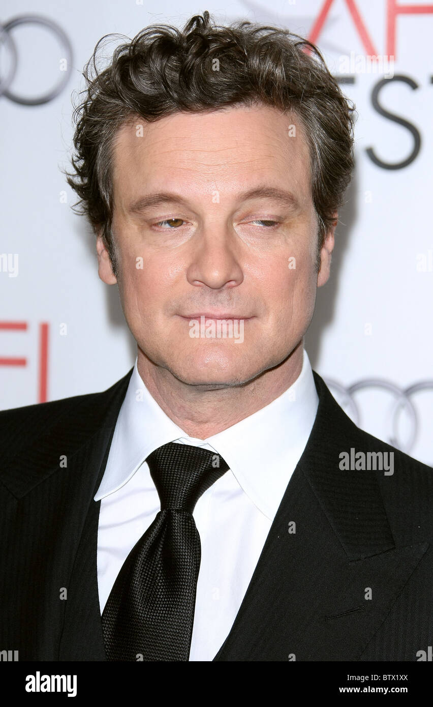 COLIN FIRTH DES KÖNIGS REDE ENSEMBLE TRIBUT. AFI FEST 2010 HOLLYWOOD LOS ANGELES Kalifornien USA 05 November Stockbild
