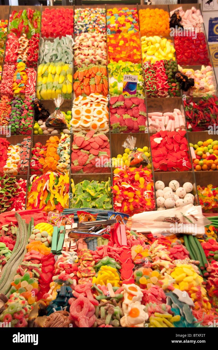 Bonbons aus dem Markt Stockbild
