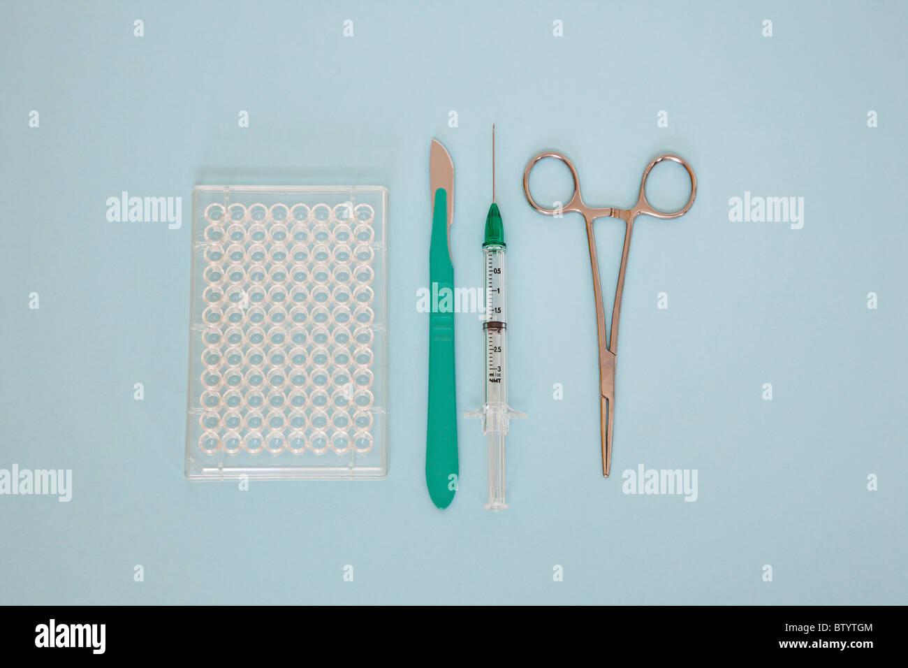 medizinische Forschungswerkzeuge Stockbild