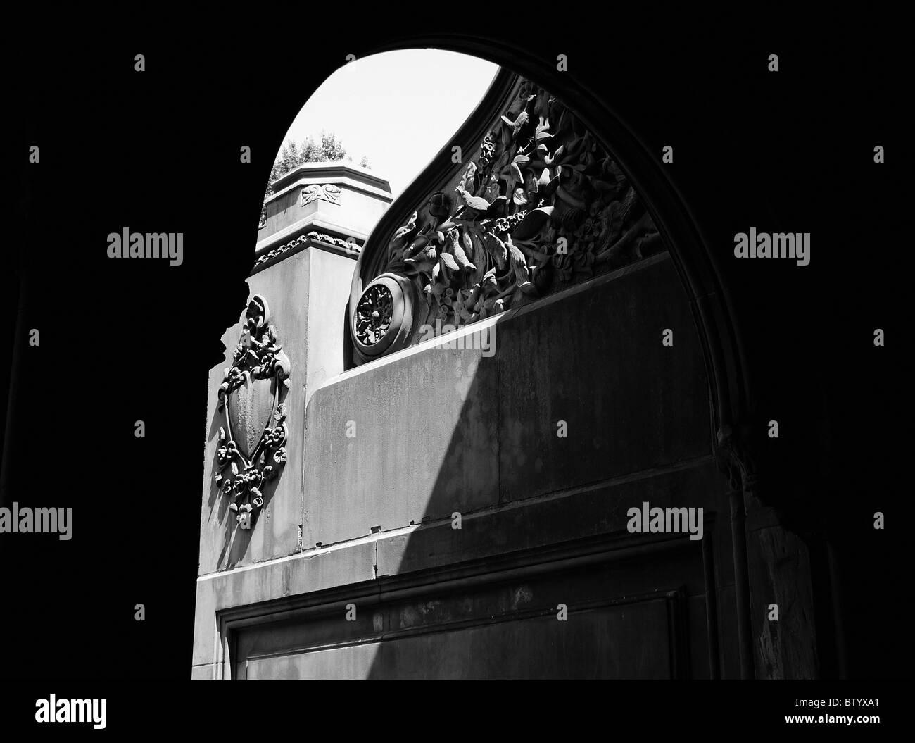 Historische, architektonische Details, Central Park, New York City. Stockbild