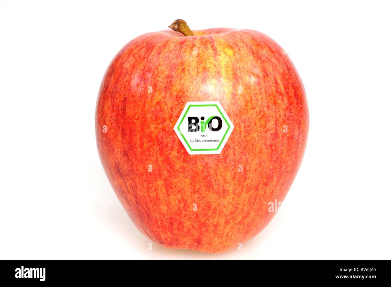 Wholefruit Apple vor einem weißen Hintergrund Stockbild