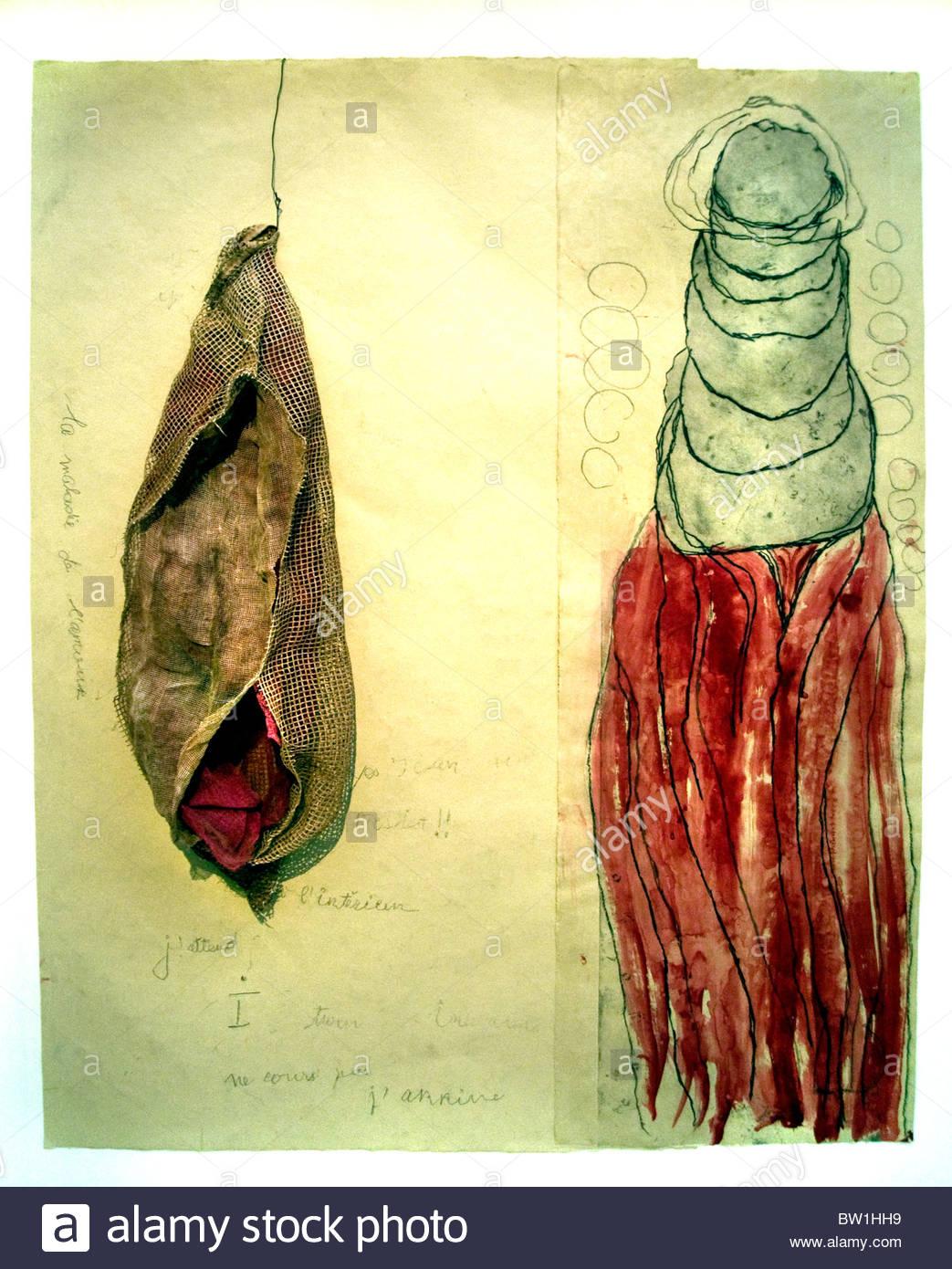 Louise Bourgeois Malerei die Krankheit der Liebe 2008 American Vereinigte Staaten von Amerika Stockbild