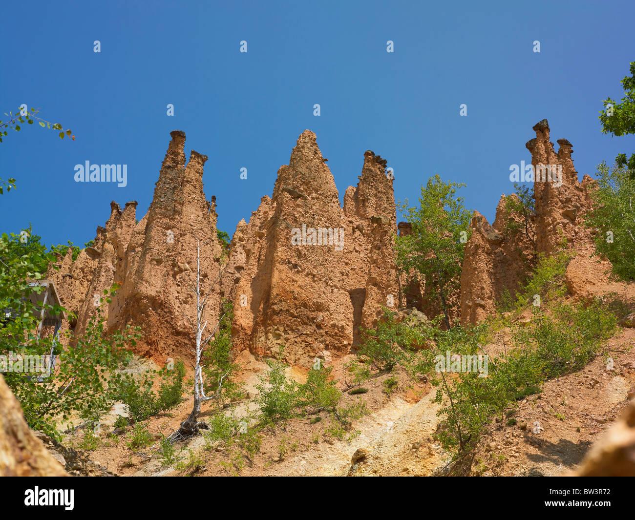 Des Teufels Stadt Naturphänomen In Serbien Stockbild